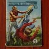 Carte - brosura --- Aventura in lumea albastra de M Serbanescu - 1966 - 64 pagini - Carte de aventura