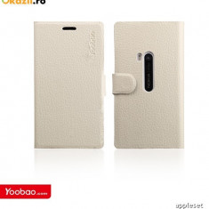 Husa Flip Case Slim Nokia Lumia 920 by Yoobao Originala White