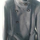 Palton Dama ZARA, Gri, Marime: 30, Lana