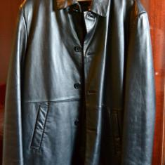 Geaca piele naturala, marca Zara - Geaca barbati Zara, Marime: M, Culoare: Nero