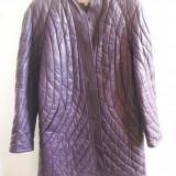Palton dama - SUPER PIESA VINTAGE! Haina de piele matlasata palton bergdorf goodman autentica, impecabila, s/m MOV quilted zara