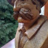Sculptura, Lemn - BUST SCULPTAT IN LEMN DE ESENTA TARE