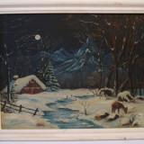 Tablou, pictura ulei pe panza, semnata (2) - Pictor roman, Peisaje, Altul