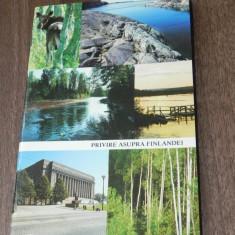 PRIVIRE ASUPRA FINLANDEI. brosura turistica in limba romana, publicata in 1985 fr ministerul afacerilor externe finlanda - Carte Geografie