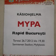 Program de meci - MyPa- 47 - Rapid Bucuresti (Myllykosken Pallo) - Program meci