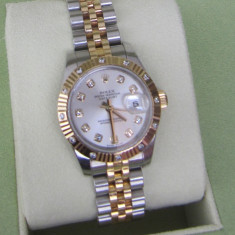 LADIES ROLEX OYSTER PERPETUAL DATEJUST TWO-TONE 18K GOLD DIAMOND - Ceas dama Rolex, Lux - elegant, Aur, Analog