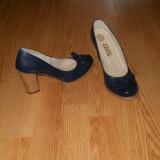 Pantofi dama, Marime: 36, Albastru - PANTOFI PIELE