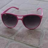 Ochelari de soare cu rama roz, Femei, Negru, Pilot, Plastic