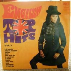 Disc vinil / vinyl - English Top Hits - vol.7 - 1972 - Muzica Rock & Roll Altele