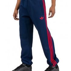 Pantaloni trening bumbac Adidas Spo Fleece TP - Trening barbati Adidas, Marime: XL, Culoare: Albastru