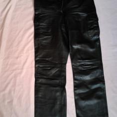 Pantaloni dama, Lungi, Negru, Piele - PANTALONI PIELE RHYTMS LICHIDARE STOC