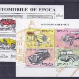 Romania, Masini de epoca, bloc, Nr lista 1423. - Timbre Romania