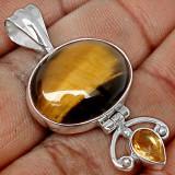 PANDANTIV TIGER EYE-Ag 925-Lichidare stoc - Pandantiv argint