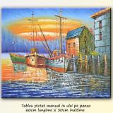 Mic port (5) - tablou in cutit - 60x50cm, LIVRARE GRATUITA 24-48h - Pictor roman