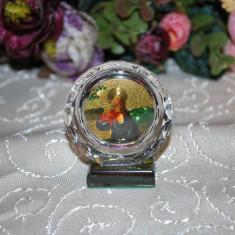Marturii nunta/botez Iconita MICA pe rotund cristal, model deosebit, CEL MAI MIC PRET DE PE PIATA Icoana marturie sticla