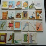Vintage - Jetoane cu litere, vintaje, vechi din 1970-1980, literele alfabetului A-Z FOARTE RARE! pentru colectionari, invatamant educatoare invatatoare 217 buc