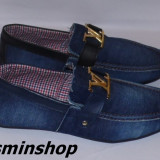 Mocasini LOUIS VUITTON Material din Blug - Model NOU de Sezon 2016 !!!