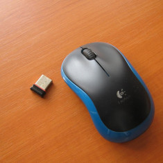 Mouse optic LOGITECH M185 1000dpi - receiver usb nano foarte mic - poate fi folosit pe tableta notebook sau pc, Wireless, Laser, 1000-2000