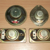 Difuzoare 4 bucati(2) (16 Ohmi 2W X 2 si 8 Ohmi 0,3W, 4 Ohmi 3W)