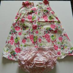 Rochita de fetite, ideala vara cu tot cu chilotei, marimea 86, marca H&M, pentru 1-2 ani, Culoare: Multicolor, Roz