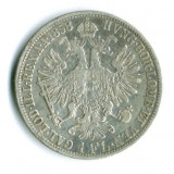 AUSTRIA 1 FLORIN 1858 A  VF++ ARGINT STARE VF+