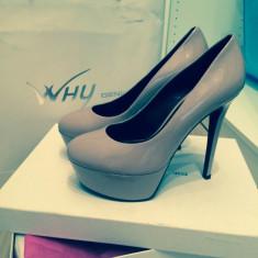 Pantofi nude cu toc - Pantof dama, Marime: 37