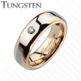 Inel Verigheta din Tungsten in Doua Nuante TCR-063