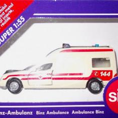 SIKU-SCARA 1/58- AMBULANTA MERCEDES BINZ - ++2501 LICITATII !! - Macheta auto