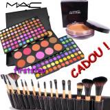 Trusa machiaj profesionala 183 culori nuante paleta farduri blush + set 15 pensule make up machiaj BOBI BROWN + CADOU baza machiaj prep + prime MAC - Trusa make up