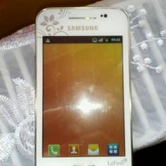 Samsung galaxy ace white la fleur 5830i - Telefon mobil Samsung Galaxy Ace, Alb, Neblocat