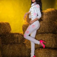 Set Mexton : GEACA+ PANTALONI - Costum dama, Marime: 34, 36, Culoare: Alb