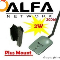 Adaptor wireless - Alfa AWUS036H AWUS 036H Wireless USB Network Adapter antena 20dbi 1W
