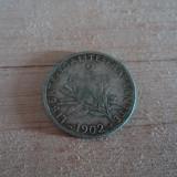 2 francs 1902 Franta, argint