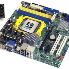 PLACA DE BAZA SOCKET AM2 ACER + PROCESOR X2 5400B 2x2.80GHZ + COOLER VIDEO ONB, Pentru AMD, DDR2, Contine procesor, MicroATX
