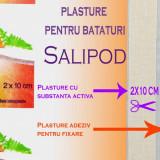 PLASTURE PENTRU BATATURI 2 x 10 cm - SALIPOD - CU SUBSTANTA ACTIVA - ACID SALICILIC