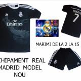 ECHIPAMENTE FOTBAL - COPII REAL MADRID, MARIMI 4 -6 ANI, LIVRARE GRATUITA - Set echipament fotbal Adidas, Marime: S