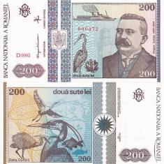Bancnote Romanesti, An: 1992 - ROMANIA 200 lei 1992 UNC!!!