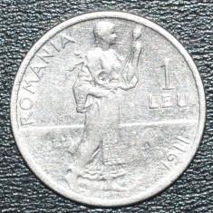 Monede Romania - (1245) ROMANIA 1 LEU 1911 REGELE CAROL I - MONEDA ARGINT - TESETOAREA !!! - IEFTIN !!!