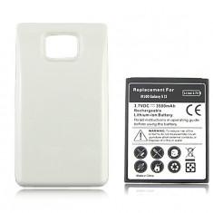 Acumulator alb extins 3500 mAh Samsung Galaxy S2 i9100 baterie extinsa + folie - Baterie externa