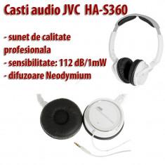 Casti audio JVC HA-S360 profesionale compatibile cu orice iPod, iPhone, iPad, etc - Casti JVC, Cu fir, Jack 3, 5mm