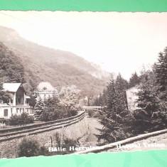 1912 BAILE HERCULANE HOTEL TRAIAN SI VILA POSTII SCRISA - Carte Postala Banat 1904-1918