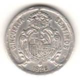 Moneda Medievala, Europa, An: 1926 - SV * Spania 50 CENTIMOS 1926 Spania, Regele Alfonso XIII, 2.5 grame ARGINT .900 XF(+)
