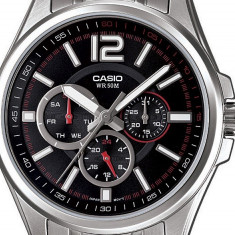 Ceas Barbatesc Casio, Casual, Quartz, Inox, Inox, 50 m / 5 ATM - Ceas CASIO MTP-1355D-1AVEF original 100% nou cu eticheta