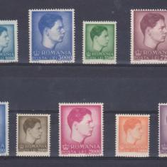 Timbre Romania, An: 1947, Regi, Nestampilat - 1947 - UZUALE - MIHAI I - FORMAT MIC SI MARE - MNH DE LUX