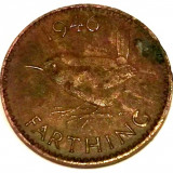 G5. ANGLIA MAREA BRITANIE FARTHING 1946, 2.80 g., Bronze, 20 mm, George VI **, Europa, An: 1946