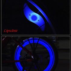 2 x Licurici (leduri) albastri pentru tuning bicicleta, Faruri si semnalizatoare