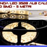 ROLA BANDA 300 LED - LEDURI SMD 3528 ALB CALD 3000K (ALBA, ALBE) - 5 METRI, IMPERMEABILA (WATERPROOF), FLEXIBILA ZDM