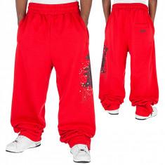 Pantaloni hip hop Karl Kani - Pantaloni barbati, Marime: L, Culoare: Rosu