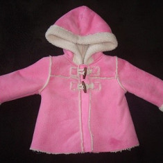 Haine Copii 6 - 12 luni, Hanorace, 74 (9 luni, inaltime 69 - 74 cm) - Cojocel OshKosh adorabil de iarna