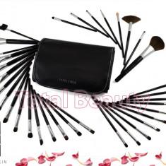Pensula make-up - Trusa 34 pensule machiaj profesionale Fraulein38 Black Master Collection